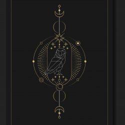 Geometric mystic symbols vector set